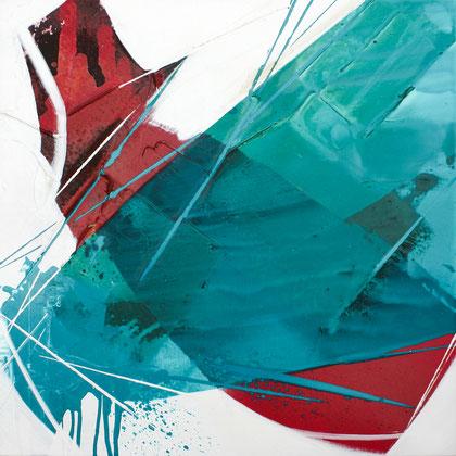 """""""Smaragd #1"""" / Öl und Bitumen auf Leinwand / 60 x 60 cm - € 250,-"""