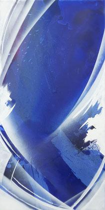 """""""Breakwater"""" / Öl und Lack auf Leinwand 50 x 100 cm € 400,-"""