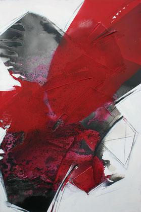 """""""Eros # 2"""" / Öl und Beize auf Leinwand / 80 x 120 cm - € 590,-"""