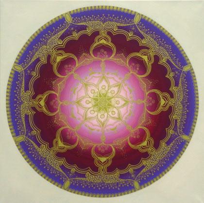 "Mandala ""Innerer Frieden"" Acryl auf Leinwand / 80 x 80 cm € 500,-"