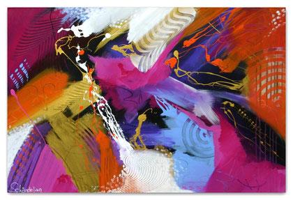 """""""Velvet"""" Acryl auf Leinwand / 80 x 120 x 3,5   € 550,-"""