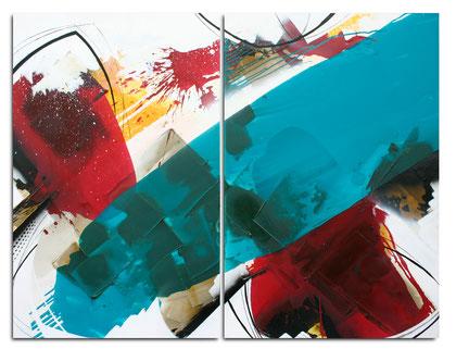 """""""Pure Life"""" / Öl und Bitumen auf Leinwand / 2x 80 x 120 cm - € 990,-"""
