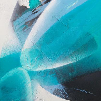 """Two whales"" / Öl auf Leinwand / 100 x 100 cm - € 590,-"