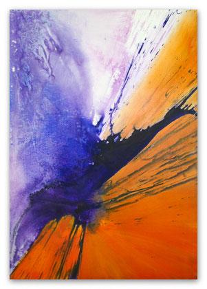 """""""Afterglow"""" Acryl auf Leinwand 70 x 100 x 3,5 cm  € 450,-"""
