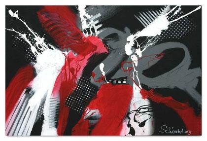 """""""The Battle"""" Acryl auf Leinwand / 80 x 120 x 3,5 cm  (verkauft)"""
