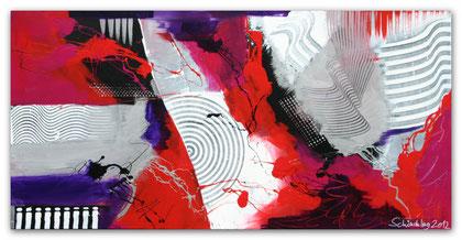"""""""Jazz"""" Acryl auf Leinwand / 70 x 140 x 3,5 cm (verkauft)"""