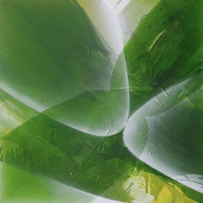 """""""The sprout #2"""" / Öl auf Leinwand / 100 x 100 cm - € 590,-"""