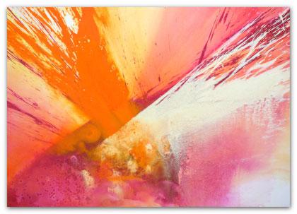 """""""Rising Sun"""" Acryl auf Leinwand 70 x 100 x 3,5 cm  € 350,-"""