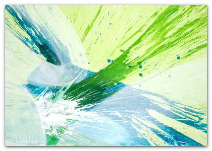 """""""The Spring"""" Acryl auf Leinwand 70 x 100 x 3,5 cm  € 350,-"""