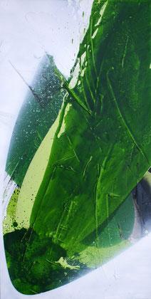 """""""The growth #2"""" / Öl auf Leinwand / 50 x 100 cm (verkauft)"""