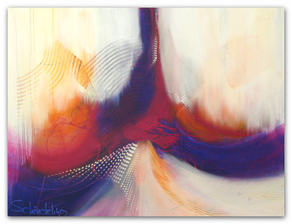 """bridge to heaven"" Acryl auf Leinwand / 90 x 120 x 3,5 cm (verkauft)"