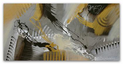 """""""Gold Mine"""" Acryl auf Leinwand / 60 x 120 x 3,5 cm  € 390,-"""