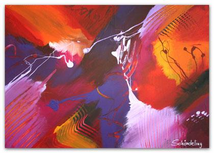 """Multicolored"" Acryl auf Leinwand / 70 x 100 cm  € 390,-"