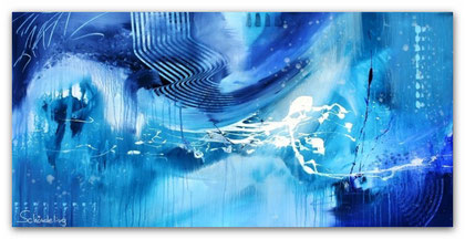 """Magic of Winter"" Acryl auf Leinwand / 70 x 140 x 3,5 cm  € 550,-"