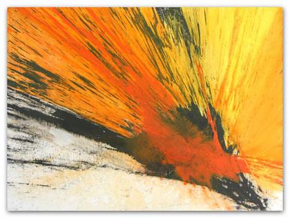 """""""Rays of Sunlight""""  Acryl auf Leinwand / 90 x 120 cm (verkauft)"""
