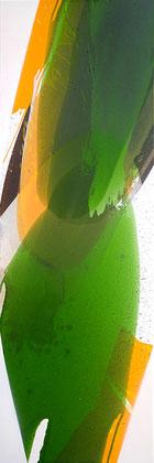 """""""Deep forest #1"""" / Öl,Bitumen und Lack auf Leinwand / 40 x 120 cm € 400,-"""
