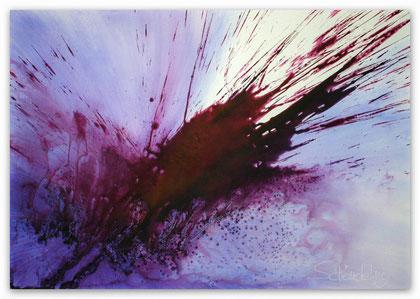 """Violet"" Acryl auf Leinwand 70 x 100 x 3,5 cm  € 290,-"