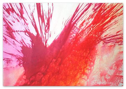 """Pink"" Acryl auf Leinwand 70 x 100 x 3,5 cm  € 290,-"