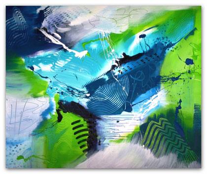 """""""Waterworld"""" Acryl auf Leinwand / 100 x 120 cm  € 600,-"""