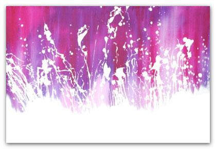 """""""Paradise"""" Acryl auf Leinwand / 80 x 120 x 3,5 cm  € 450,-"""
