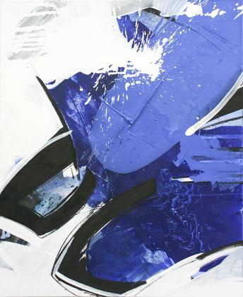 """""""Deep sea"""" /  Öl und Beize auf Leinwand / 80 x 100 cm - € 490,-"""