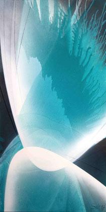 """""""Coral Reef"""" / Öl und Lack auf Leinwand / 50 x 100 cm - € 350,-"""