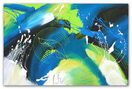 """Gewitter"" Acryl auf Leinwand / 80 x 120 x 3,5 cm  € 490,-"