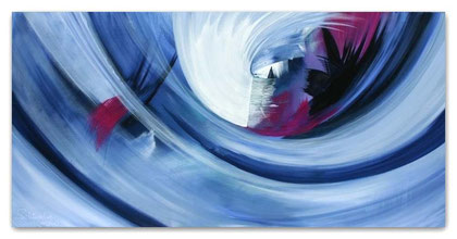 """""""Zeittunnel"""" Acryl auf Leinwand / 70 x 140 x 3,5 cm (verkauft)"""