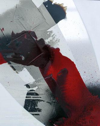 """""""Eruption"""" / Öl auf Alu-Dibond-Platte / 44 x 54 cm - € 190,-"""