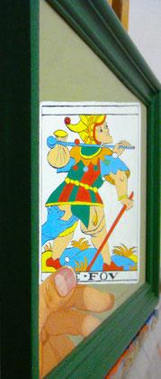 """Visión corregida, desde el punto de vista adecuado, de """"El Loco"""". Témpera sobre tabla, 22,5 x 45cm, 2010"""