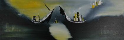 "Nr. 188 ""Atlantis ""   50x150cm   Verkauft"