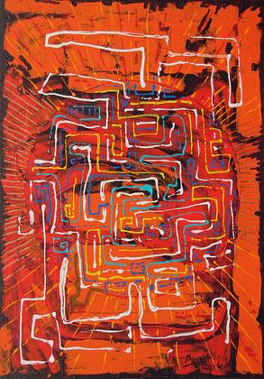 Eterno, acrylique sur support synthétique, 83 x 118 cm, 2016