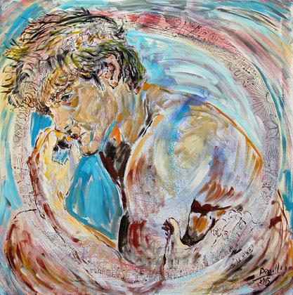 Pensamiento Universal, acrylique sur toile, 100 x 100 cm, 2015