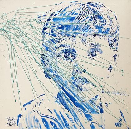 L'Etonnement, acrylique sur toile, 100 x 100 cm, 2014