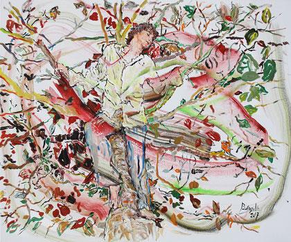 Son Âme, acrylique sur toile, 120 x 100 cm, 2017