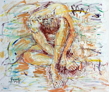 Origine - Connaissaince, acrylique sur toile, 120 x 100 cm, 2015