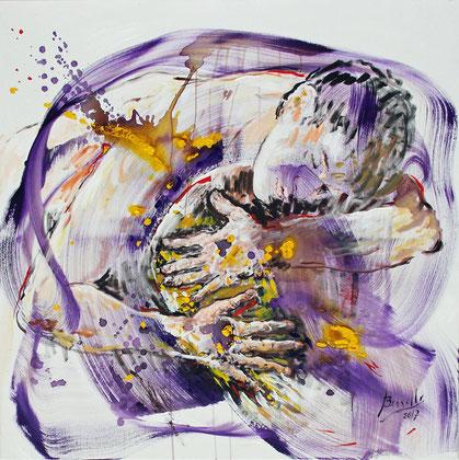 En tus Manos, acrylique sur toile, 100 x 100 cm, 2017