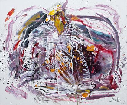 Fuera del Tiempo, acrylique sur toile, 120 x 100 cm, 2017