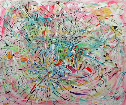 Tiempo - acrylique sur toile, 120 x 100 cm, 2017