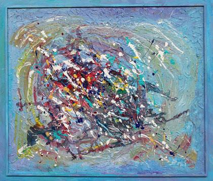 Expansion, acrylique sur bois, 120 x 100 cm, 2015