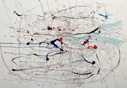 La Terre Vu Du Ciel, acrylique sur toile, 100 x 70 cm, 2015