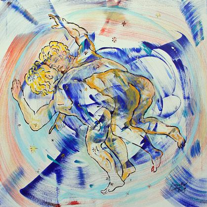 Gemini, acrylique sur toile, 100 x 100 cm