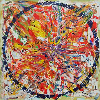 Galaxie, acrylique sur toile, 100 x 100 cm, 2016