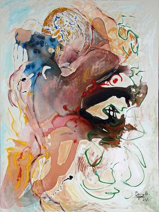 Emergence de la Vie, acrylique sur toile, 130 x 97 cm, 2015