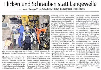 """Artikel aus der """"Sachsenspiegel"""" vom 06.11.10"""