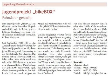"""Artikel aus dem """"Amtsblatt Zwickau"""" vom Mai/2011"""