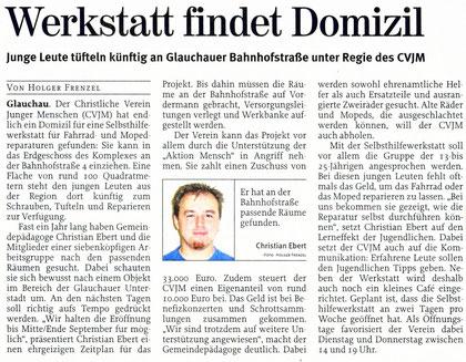 """Artikel aus der """"Freie Presse"""" vom 07.08.10"""