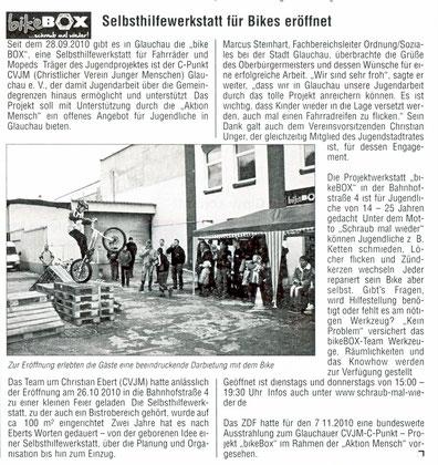 """Artikel aus der """"Stadtkurier"""" vom 10.11.10"""