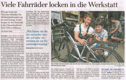 """Artikel aus der """"Freien Presse"""" vom 04.07.2013"""