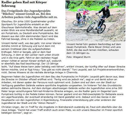 """Artikel aus der """"Freien Presse"""" vom 25.09.2013"""